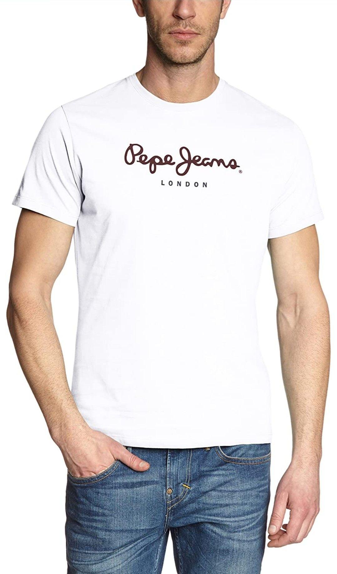 Camiseta básica Pepe Jeans en blanco, gris o negro