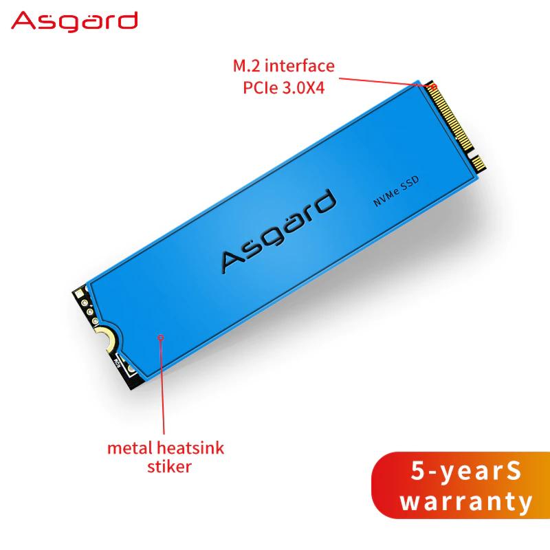 SSD 1TB Asgard AN3 M.2 NVMe PCIe desde 91,98€