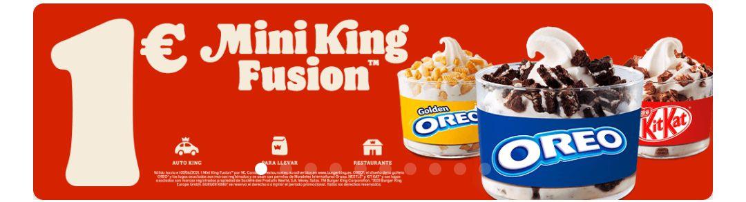 Mini King fusión a 1€ y nuevas alitas x4 a 1,50€