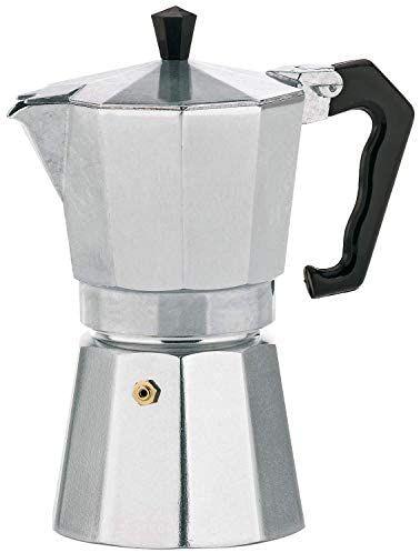 REACO kela Espresso Pot Italia 3 Tazas, Aluminio (Como nuevo)