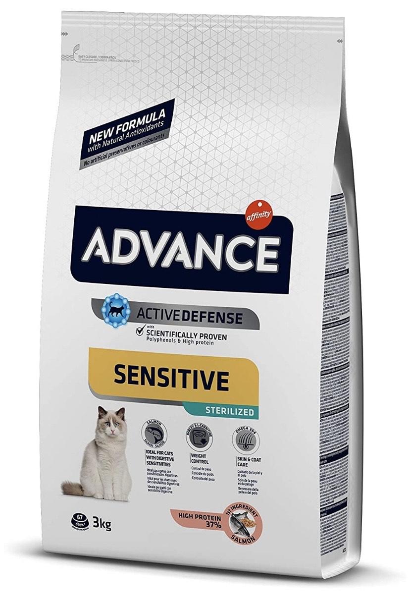 Purina Advance Sensitive, Gatos esterilizados. De 3kg, para que no hayan confusiones.