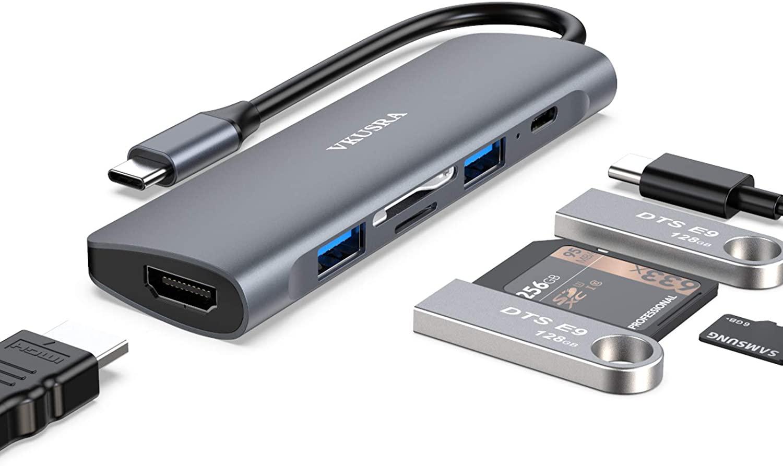 Hub tipo C 6 en 1 4K HDMI solo 9.2€