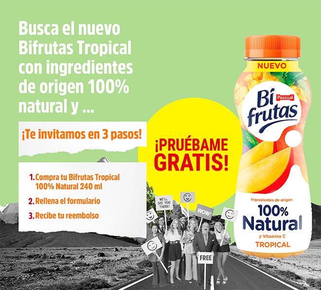 Prueba GRATIS Bi Frutas Tropical 100% natural (cashback)