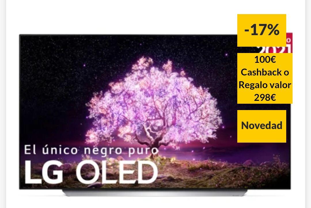 TV LG 55C15 (OLED - 55'' - 140 cm - 4K Ultra HD + Cashback de 100€ o Regalo de 298€ tb modelo 65''