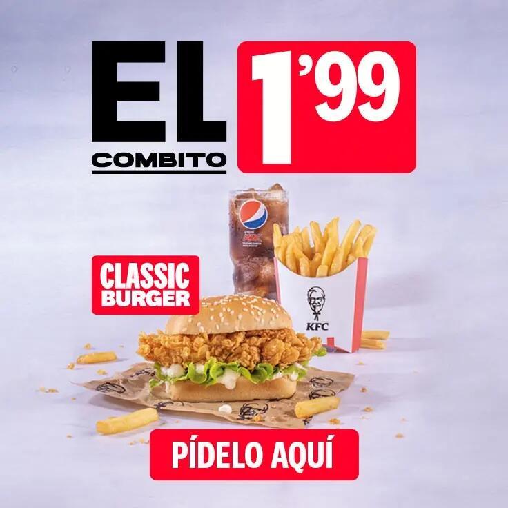 El Combito de KFC: 3 productos por 2€