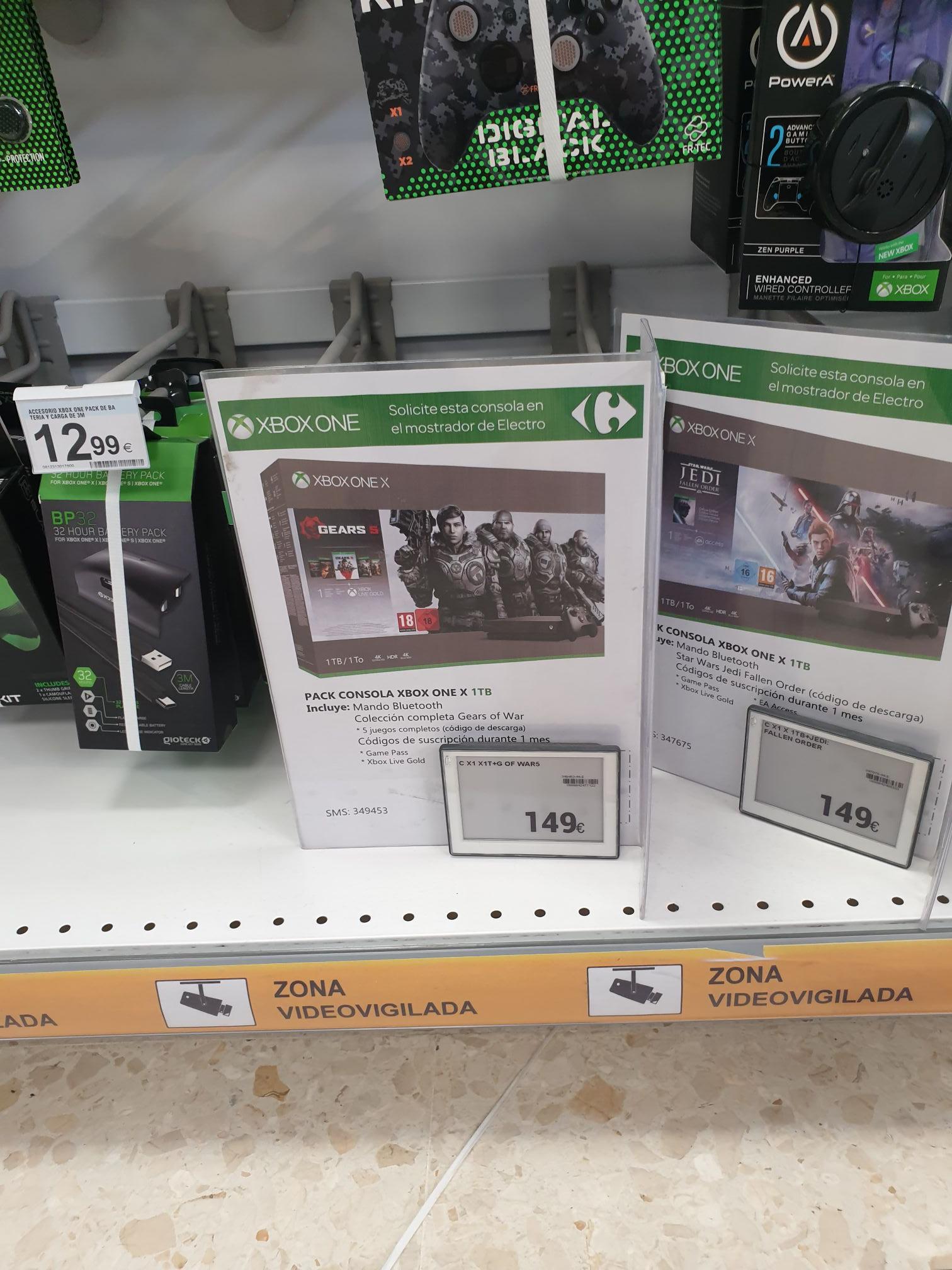 Xbox one x en Carrefour Jaen capital