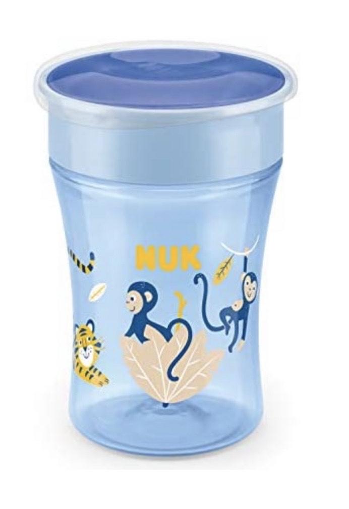 NUK Magic Cup vaso antiderrame bebe | Borde a prueba de derrames de 360° | +8 meses | Sin BPA | 230 ml