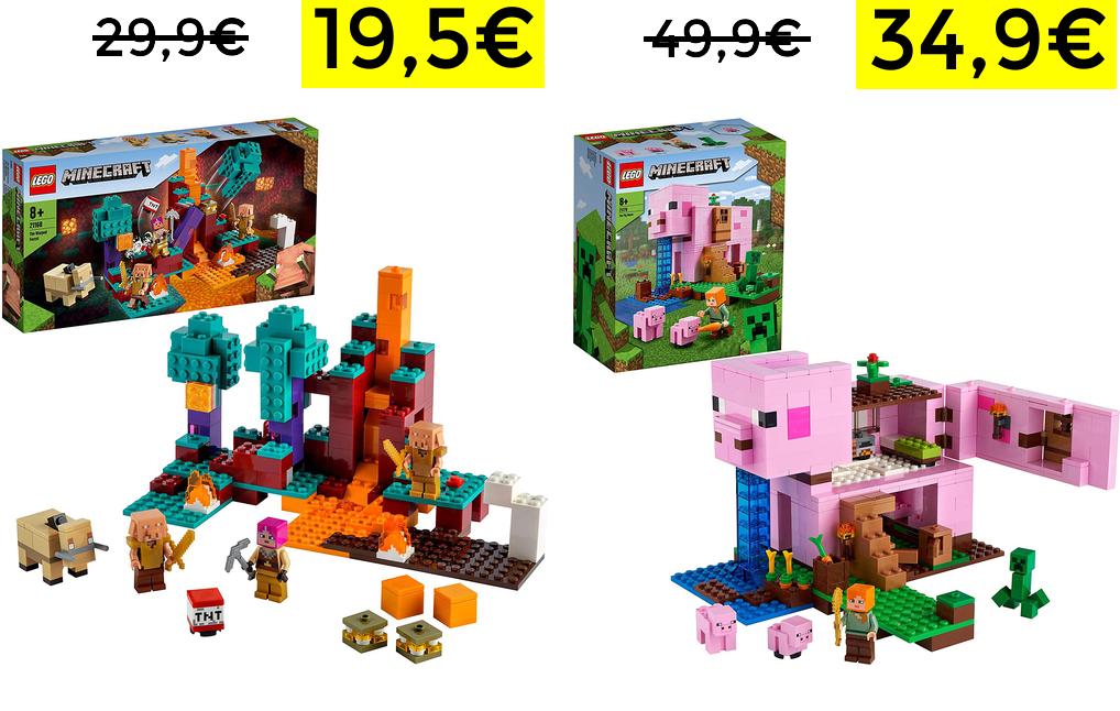 Set Lego Minecraft desde 19,5€
