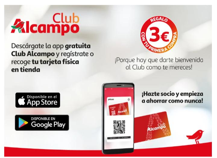 Regalo 3€ club Alcampo