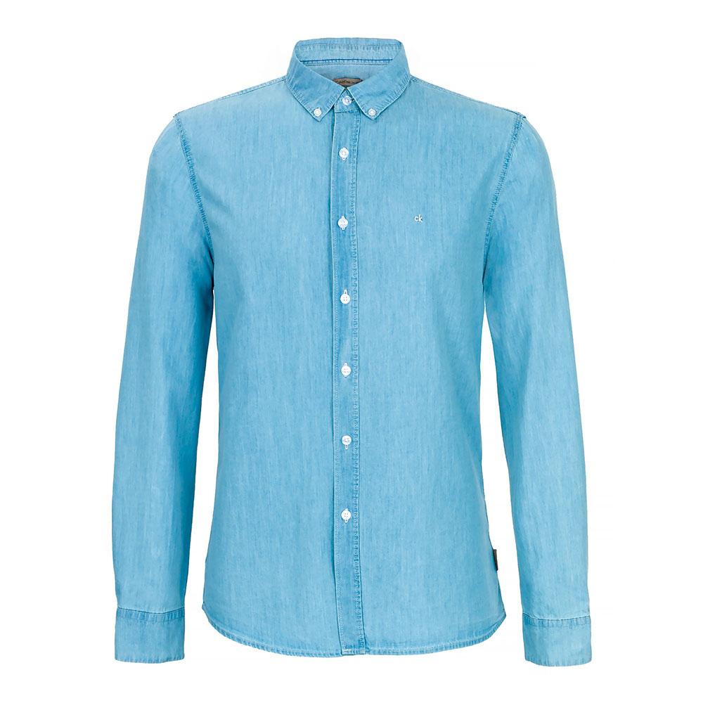 Camisa Calvin Klein Hombre Light Denim (Muchas Tallas)