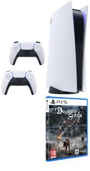 PlayStation 5 lector + DualSense adicional + PS5 Demon´s Souls ¡SOLO PARA ALGUNOS CLIENTES!