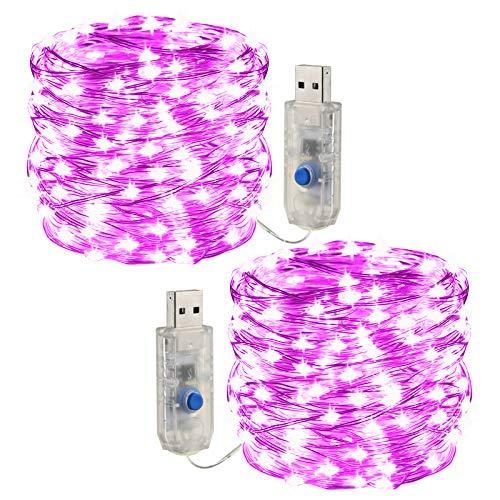 [2 piezas] Cadena de luces LED ,USB Luces ,2X10m 300 Leds