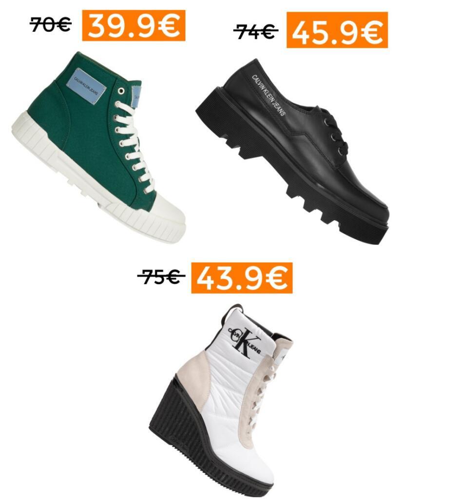 Rebajas en selección de calzado Calvin Klein