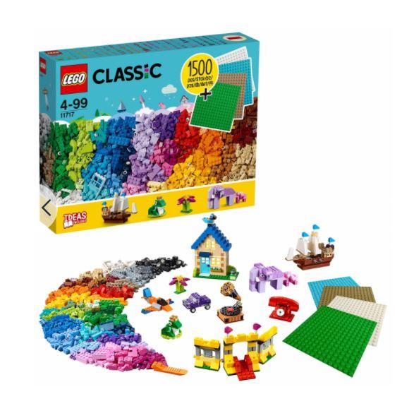 LEGO Classic - Ladrillos, Ladrillos y Placas 1500 Piezas