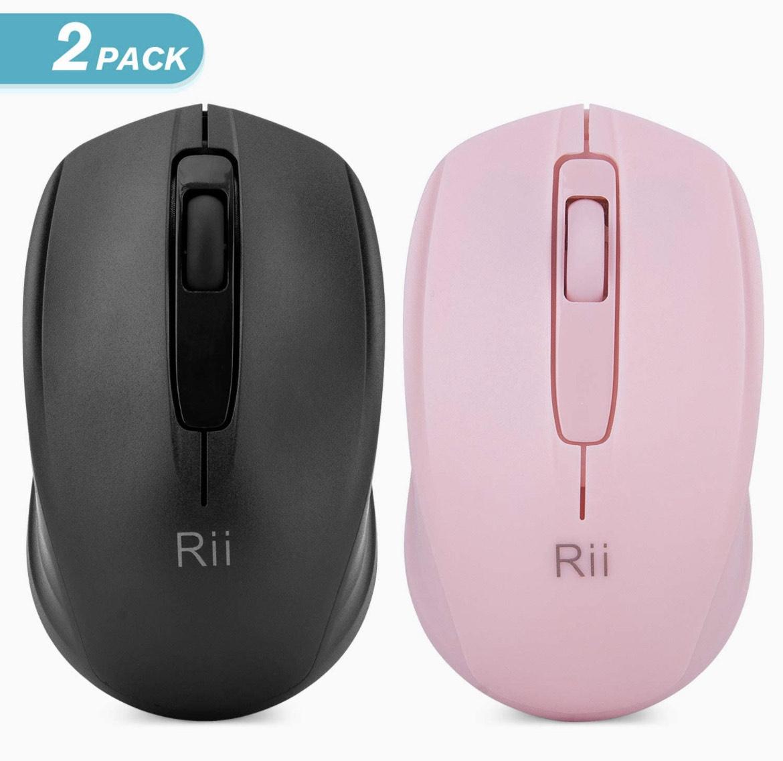 Pack x2 ratones inalámbricos Rii RM100