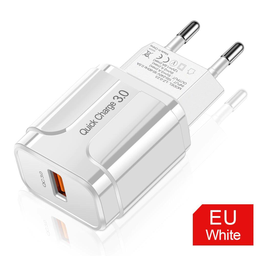 Cargador de enchufe USB QC 3.0