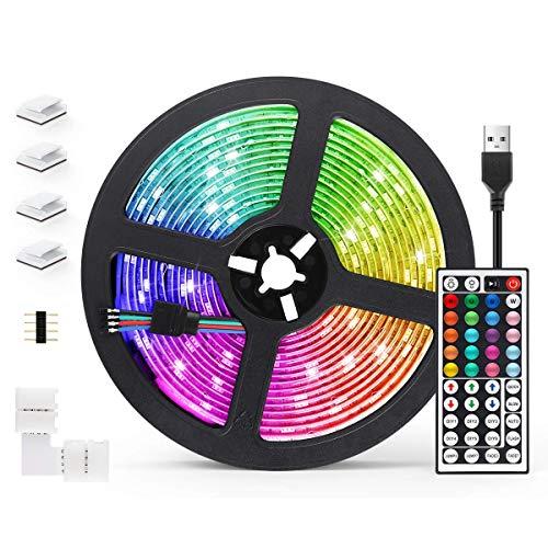 5M Tira LED con Control Remoto de 44 Botones, 20 Colores 8 Modos de Brillo