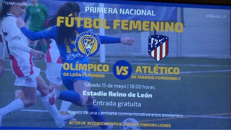 Olimpico de León Fem. vs Filial Atlético de Madrid Fem. Entrada Gratuita + Camiseta