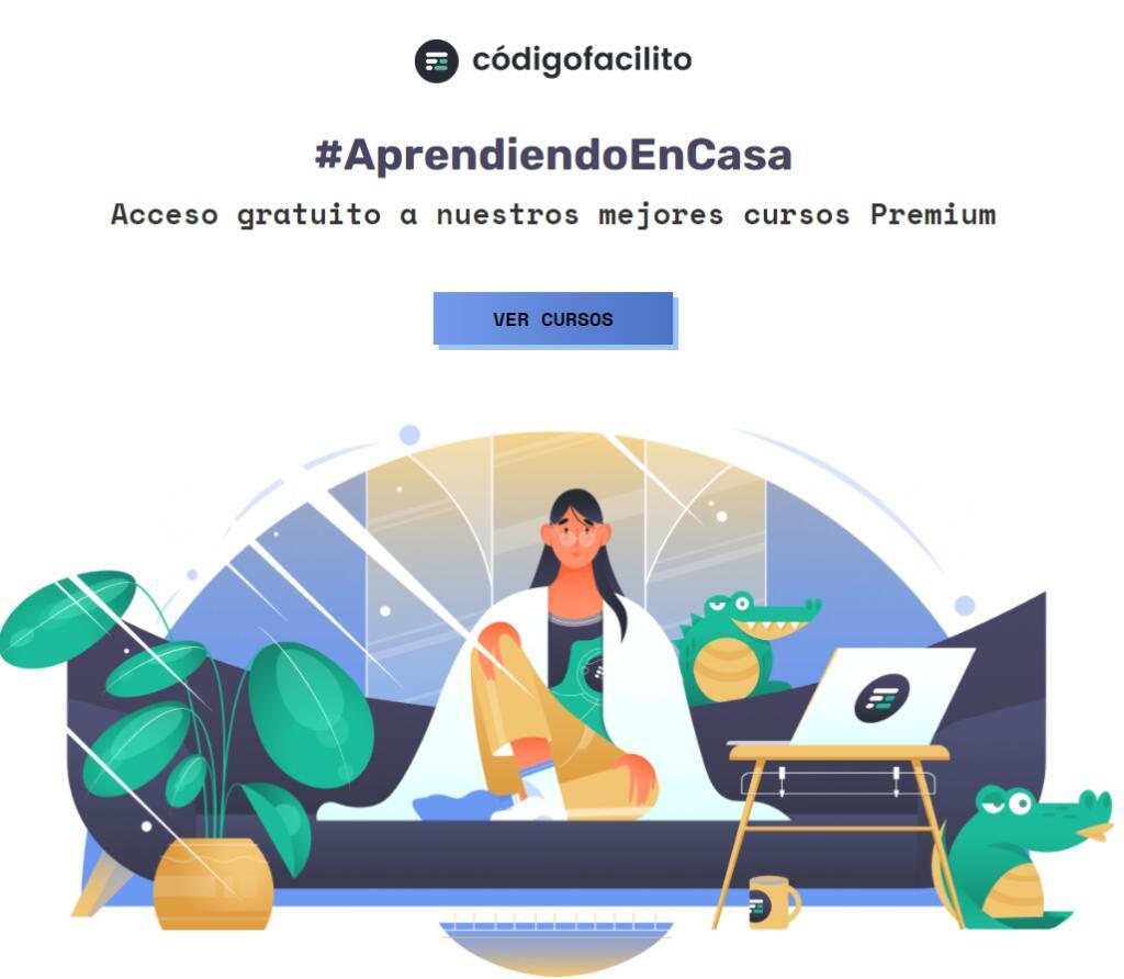 Acceso GRATIS a los cursos Premium #AprendiendoEnCasa