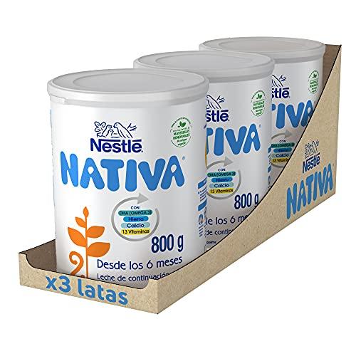 Pack de 3 latas de leche de fórmula para bebe