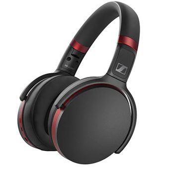 Auriculares inalámbricos - Sennheiser HD 458BT, Bluetooth, Cancelación activa de ruido, Plegable, Negro