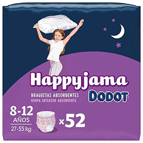 Dodot Pañales HappyJama para Niña 8 -12 Años 52 unidades