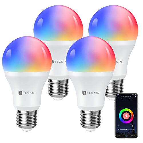 Pack 4 bombillas Alexa & Google TECKIN