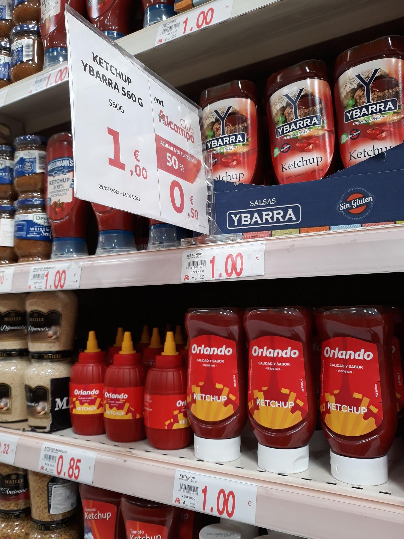 Ketchup Ybarra 560 gr en Alcampo Bonaire