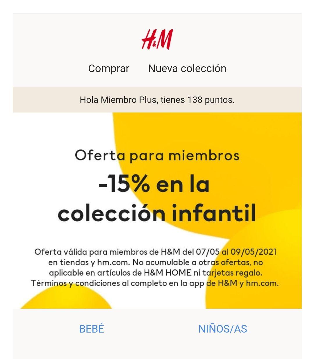 -15% H&M niño