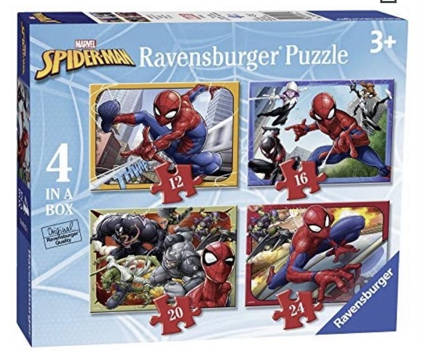 Ravensburger- Spiderman 4 Rompecabezas