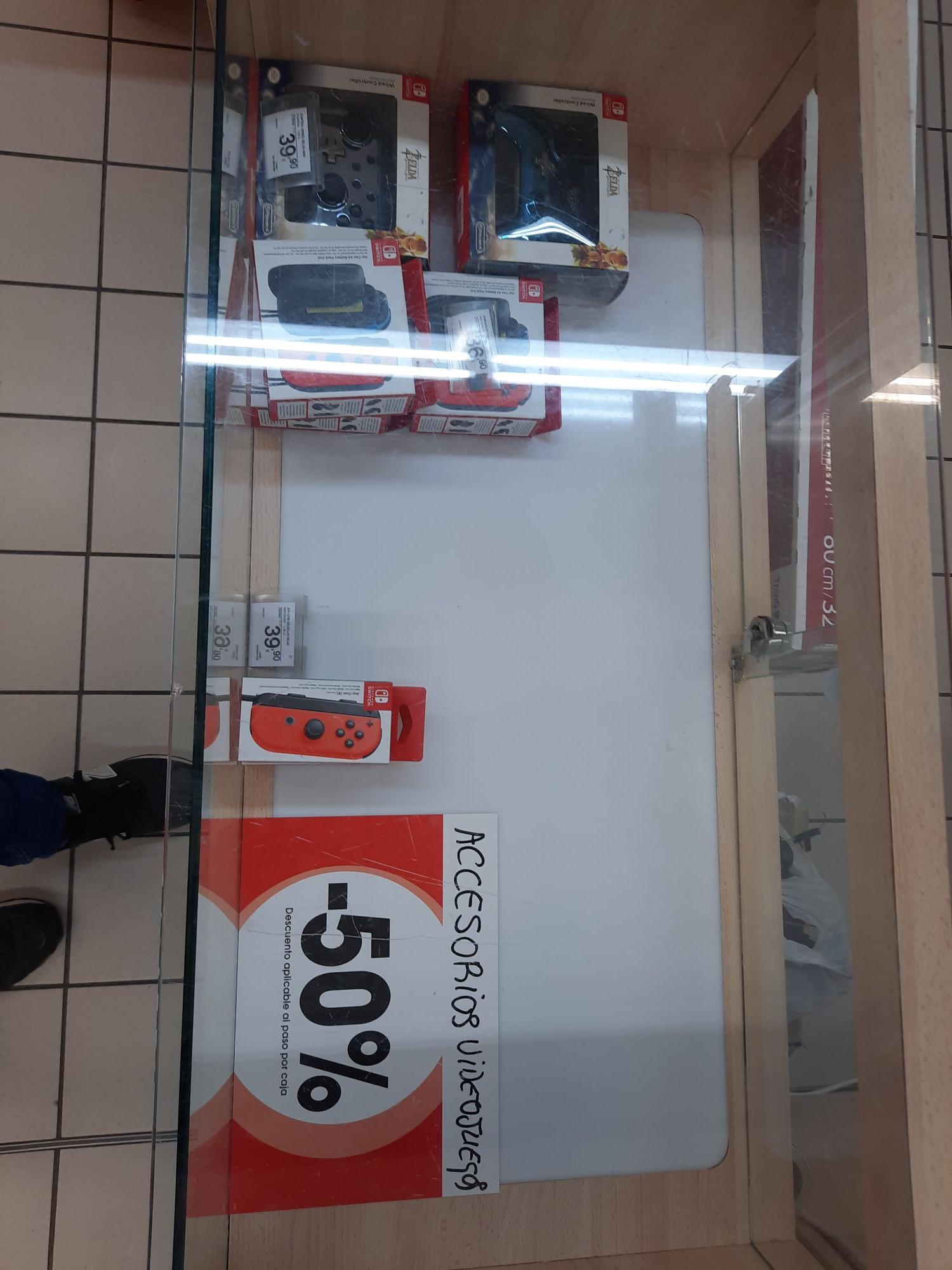 Mandos Nintendo Switch en Eroski de Toledo