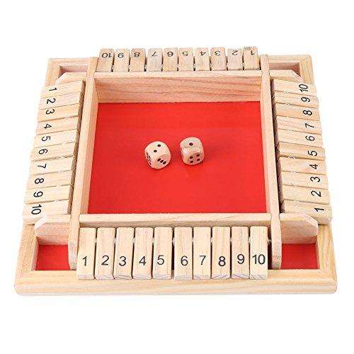 Juguete Educativo de Dados con Tablero de madera y número.