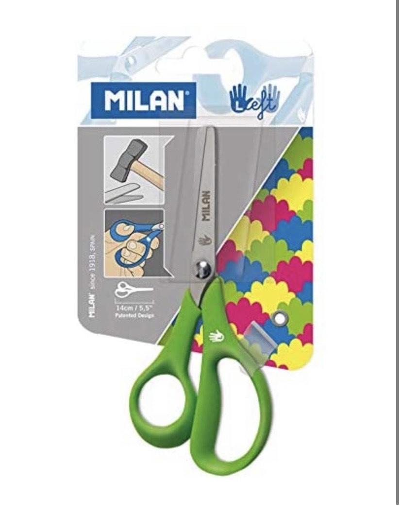 Milan - Blíster tijeras para zurdos