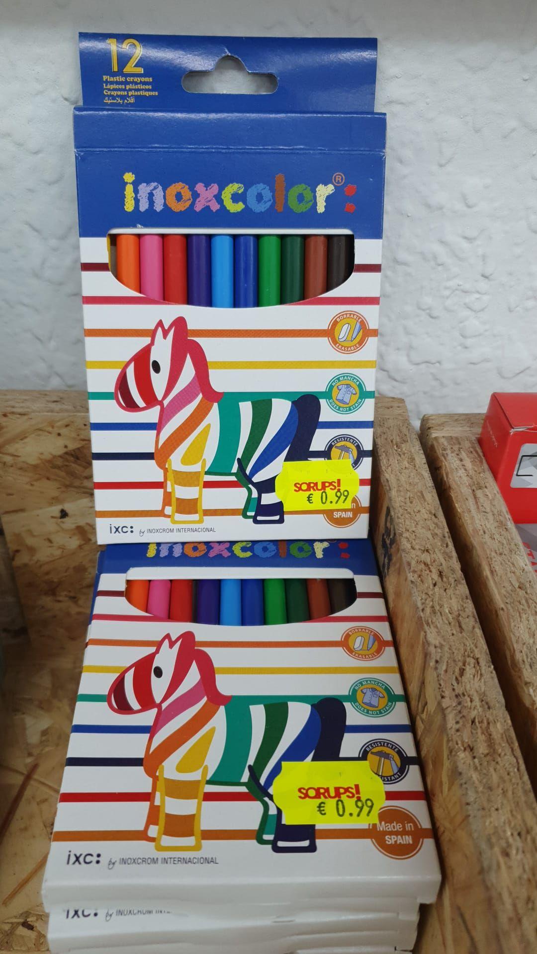 Inoxcolor - Inoxcrom 12 lápices plásticos de colores visto en Sqrups Sant Antoni