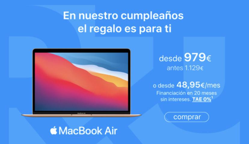 Nuevo MacBook Air M1 / 256GB