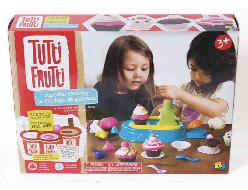 Educa Borras - Plastilina Tutti Frutti Set Deluxe Fábrica de Cupcakes, 3 masas moldeables