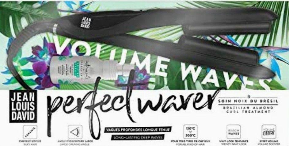 Plancha de pelo Jean Louis David Perfect Waver con revestimiento cerámico + aceite de nuez de Brasil
