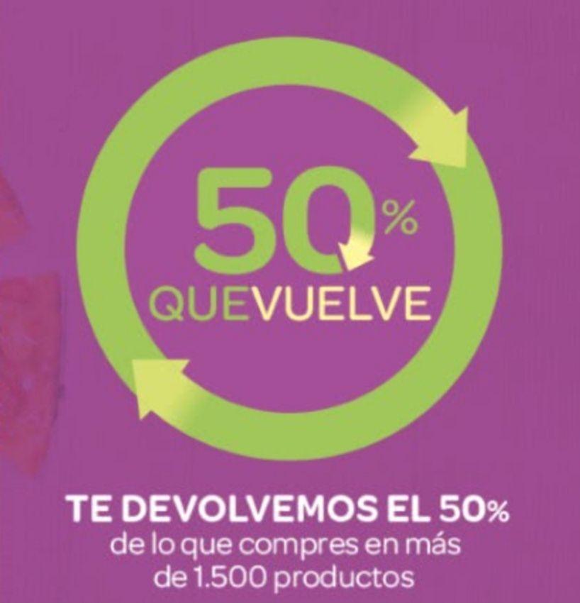 50% Que vuelve Carrefour