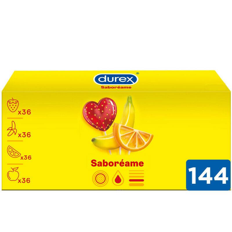 Pack ahorro 144 condones Sabores Afrutados