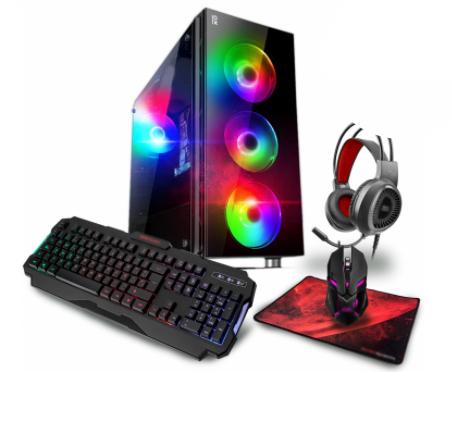 CPU Gaming Primux PCIOX R53532M1622WH con Ryzen 5, 16GB, 2TB + 240GB + Pack Gaming Teclado, Auriculares, Ratón y Alfombrilla