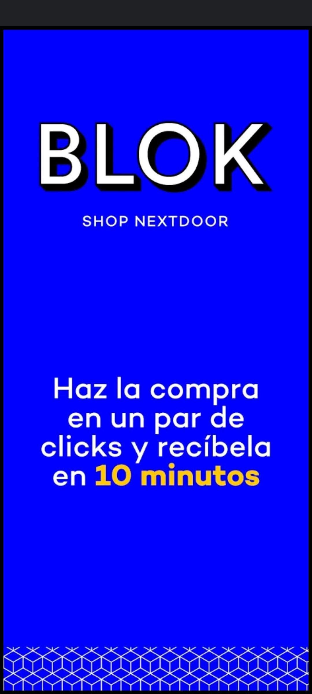 11€ gratis en Blok (mercado online) MADRID Y BARCELONA