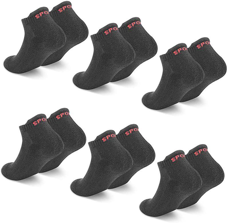 6 pares de calcetines tobilleros (Tallas 35-38 y 39-42)