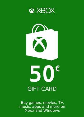 Tarjeta 50€ Xbox por solo 37€