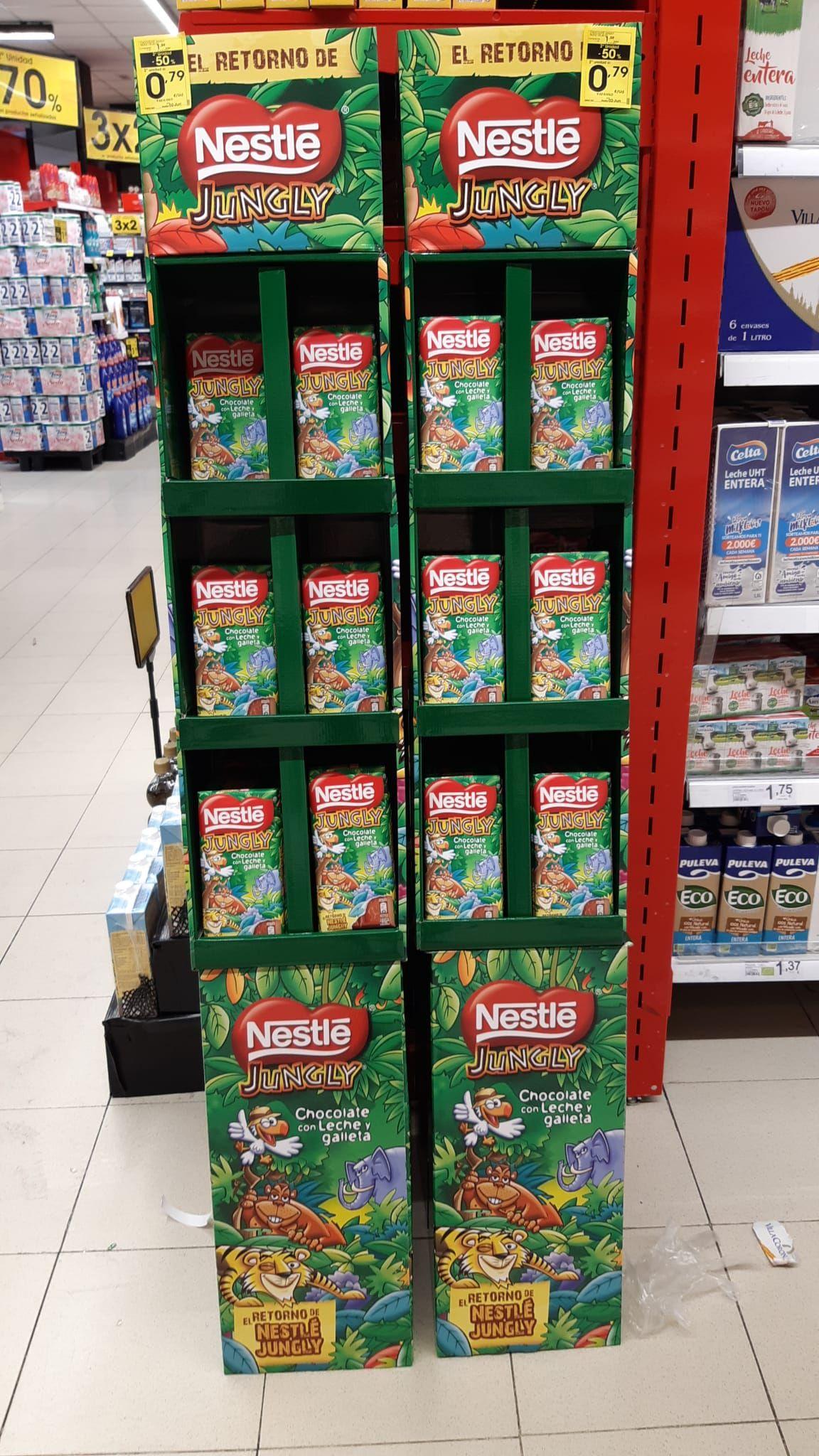 Nestlé Jungly (Segunda unidad 50% de descuento) en el Eroski del Coso, Zaragoza