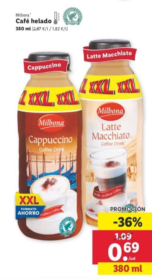 Café helado XXL en Lidl envase de 380ml