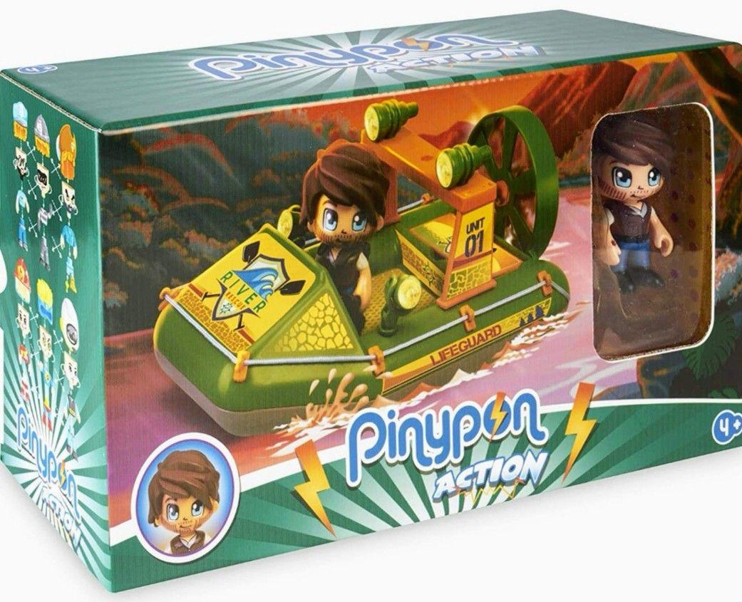 Pinypon Action Wild. Lancha Rescate para niñ@s