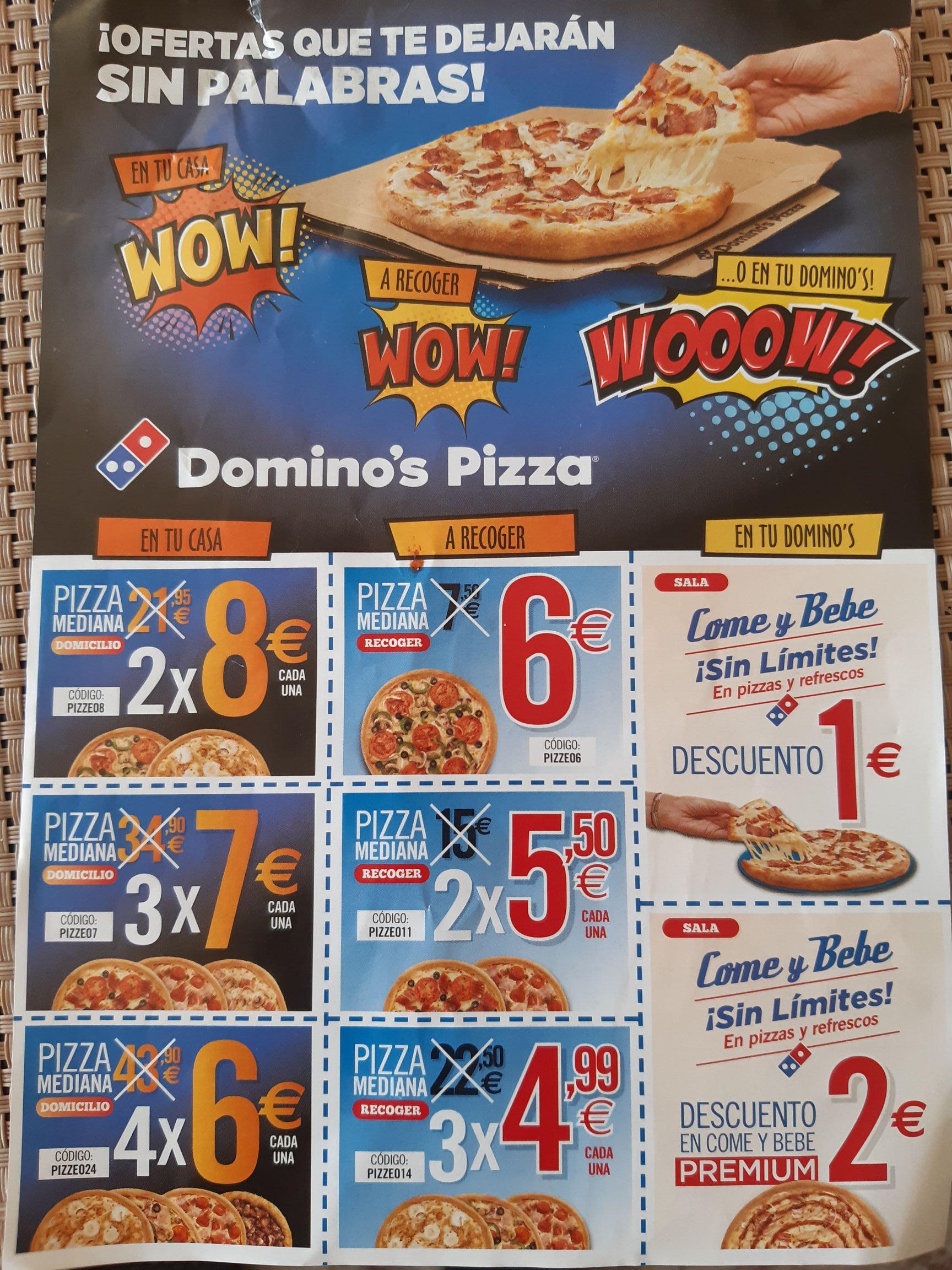 Domino's: 4 Medianas por 24€