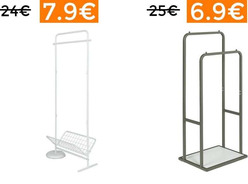 Liquidación en selección de percheros desde 6.9€ (envío gratis)