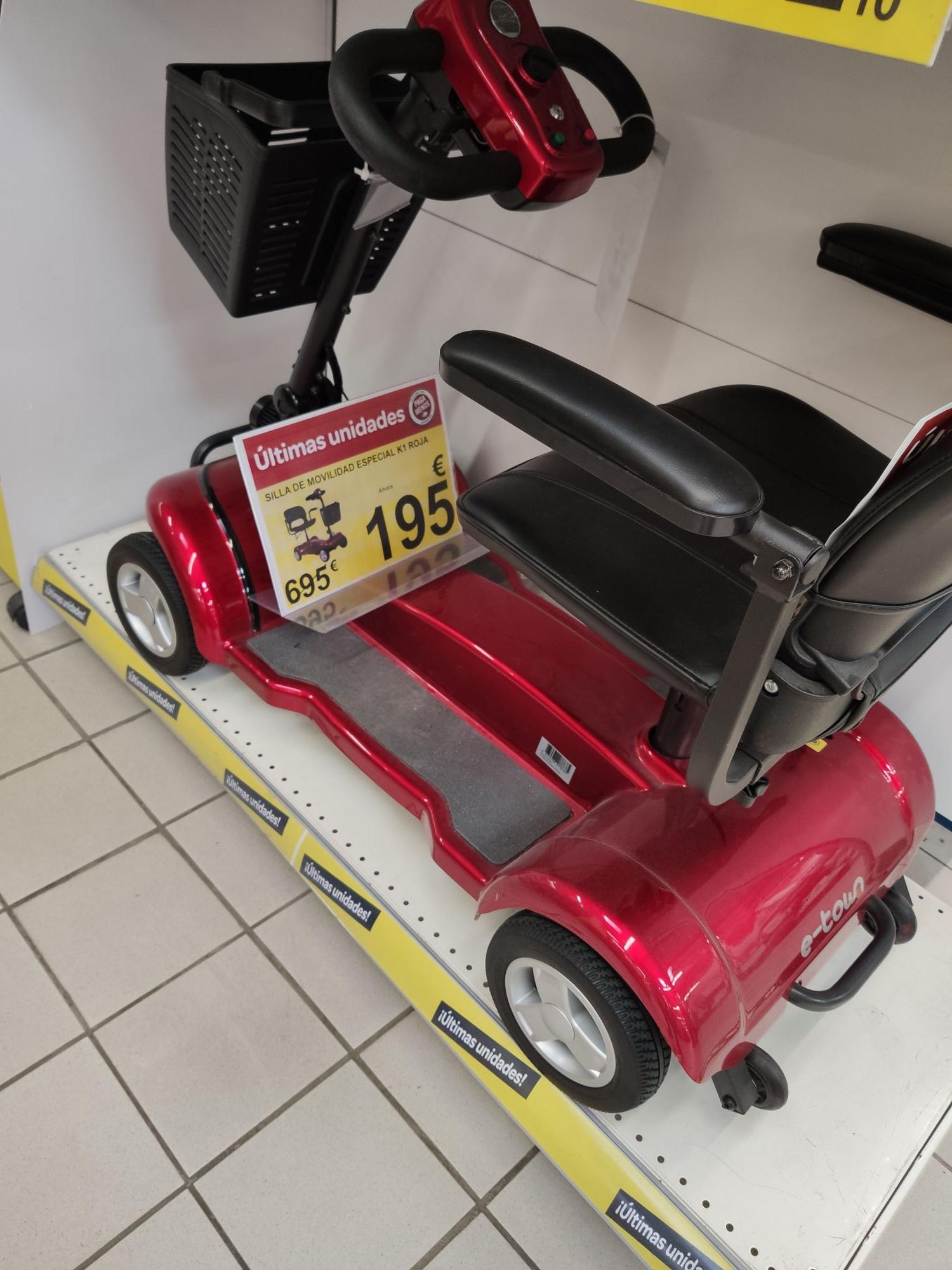 Silla movilidad especial (Carrefour Almenara Lorca)