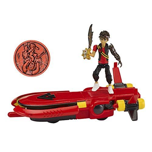 BANDAI Vehículo Planeador, figura y Moneda de Zak Storm 41585